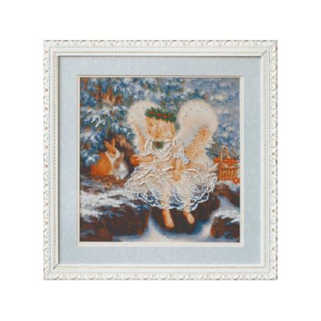 Набор для вышивания Чарівна Мить Б-556 Ангелочек зимой фото