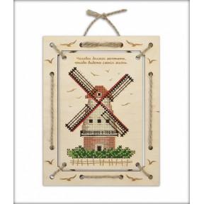 """Набор для вышивки крестом Овен """"Мельница. Панно """" 1199"""