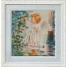 Набор для вышивания Чарівна Мить Б-555 Ангелочек и розовый куст