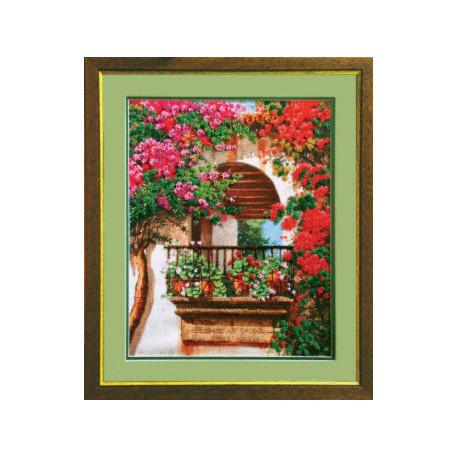 Набор для вышивания Чарівна Мить Б-563 Цветы на балконе фото