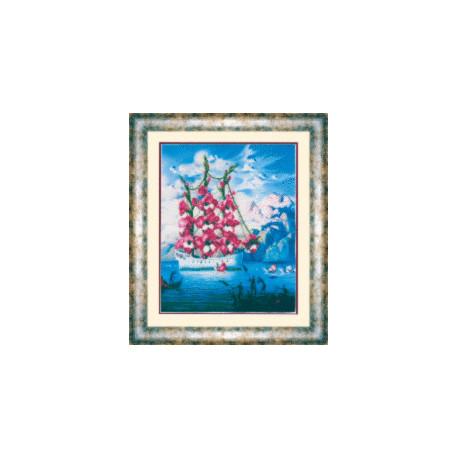 Набор для вышивания Чарівна МитьБ-572 Прибытие корабля цветов