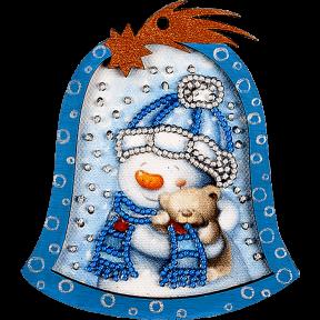 Елочная игрушка для вышивания бисером Волшебная страна FLE-003