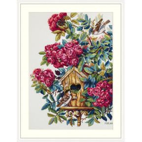 Набор для вышивания крестом Мережка Куст розы К-150