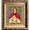 Набор для вышивания бисером Б-1198 Икона святой мученицы Агнии