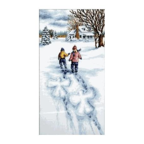 Набор для вышивания Dimensions 13717 Snow Angels фото