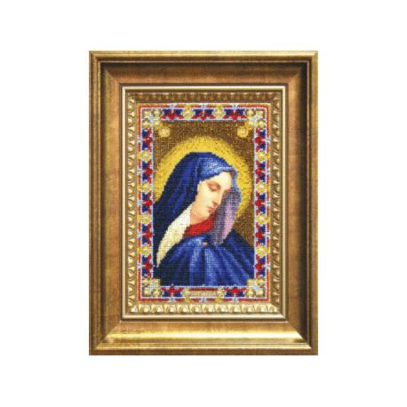 Набор для вышивания бисером Б-1205 Икона Божьей Матери