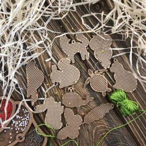 Набор заготовок для вышивания по дереву Волшебная страна  FLSW-005