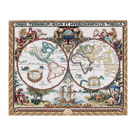 Набор для вышивания Janlynn 015-0223 Old World Map фото