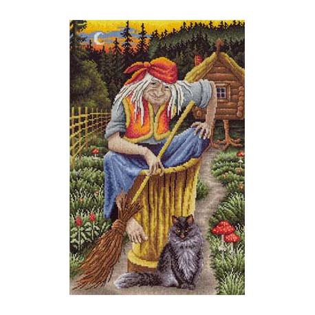 Набор для вышивки крестом Panna ВС-0801 Баба-Яга фото