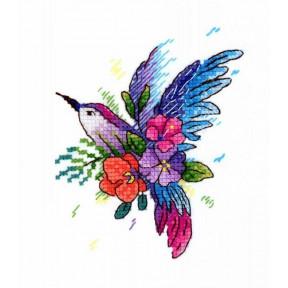 Набор для вышивки крестом МП Студия Райская птичка В-256