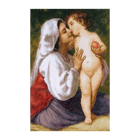 Набор для вышивки крестом Panna ВХ-0665 Поцелуй фото
