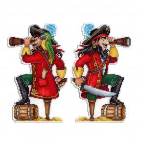 Набор для вышивки крестом МП Студия Отважный пират  Р-450
