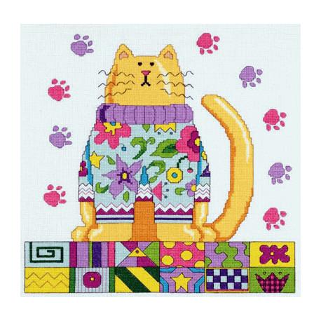 Набор для вышивания Janlynn 021-1034 Funky Cat фото