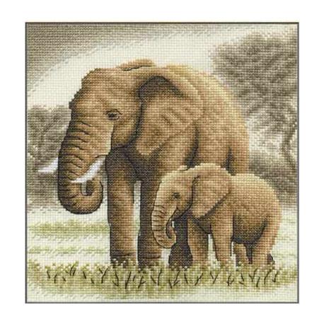 Набор для вышивки крестом Panna Ж-0564 Слоны фото