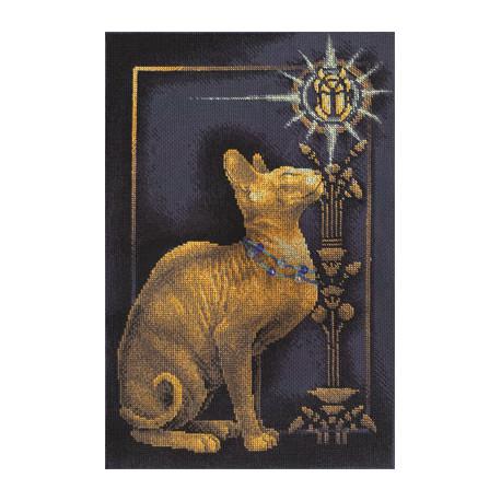 Набор для вышивки крестом Panna К-1067 Скарабей и кошка фото