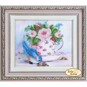 Набор для вышивания бисером Tela Artis НВ-504 Шебби-шик. Птичка