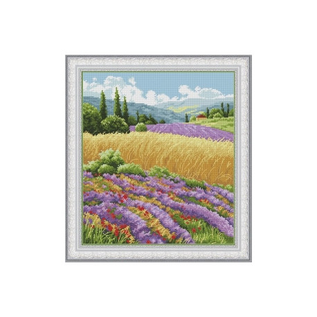 Набор для вышивания крестиком OLanTa  Летний пейзаж VN-132