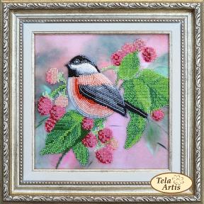Набор для вышивания бисером Tela Artis НВ-004 Птичка в малине