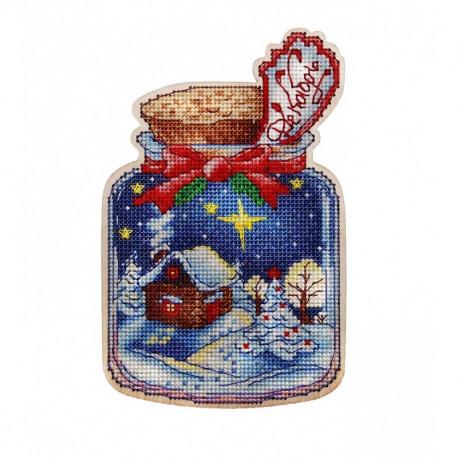 Набор для вышивки крестом Alisena Новогодняя заготовка - Декабрь. 5566