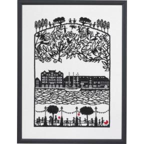 Набор для вышивания Eva Rosenstand Papercut Harbour 14-370