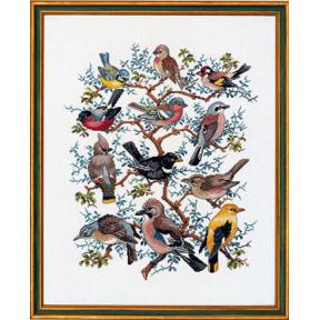 Набор для вышивания Eva Rosenstand Tree with birds 12-266