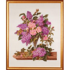 Набор для вышивания Eva Rosenstand Lilac/roses 14-185