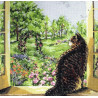 Набор для вышивания Janlynn 023-0336 View of the Garden Cat фото