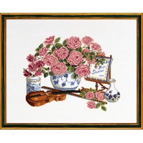 Набор для вышивания Eva Rosenstand Roses & fiddle 14-103