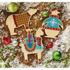 Набор для вышивания Dimensions Animal Wood Ornaments 70-08983