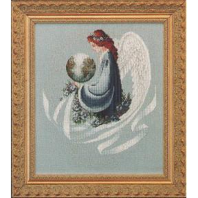 Схема для вышивания  Lavender Lace Earth Angel LL16