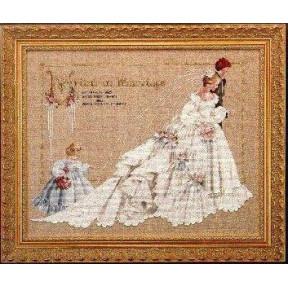 Схема для вышивания  Lavender Lace The Wedding LL19