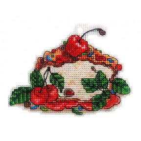 Набор для вышивки крестом Alisena Пироженко – Вишнёвый чизкейк 8022а