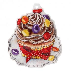 Набор для вышивки крестом Alisena Пироженко – Мафин карамелька 8021а