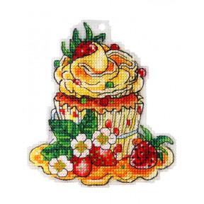 Набор для вышивки крестом Alisena Пироженко – Земляничная полянка 8020а