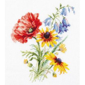 Набор для вышивки крестом Алиса Букетик с маком 2-48