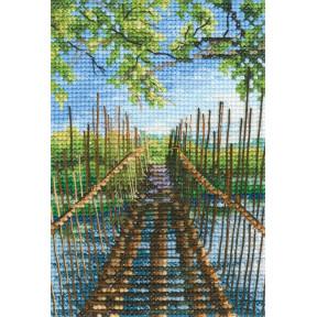 Набор для вышивки RTO Пешеходный мост на озере Остин 313