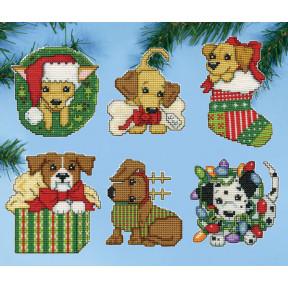 Набор для вышивания Design Works Christmas Pups 5920