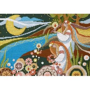 Набор для вышивания крестом  Чарівна Мить Купальская ночь ВТ-239