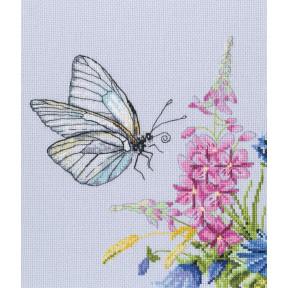 Набор для вышивки RTO Бабочка капустница M759