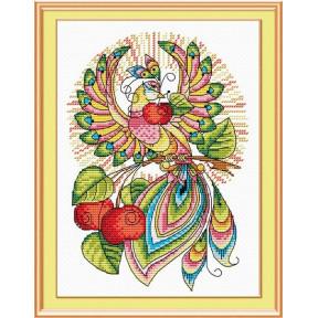 Набор для вышивки крестом МП Студия Сказочная птица М-049