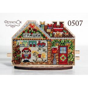 """Набор для вышивки крестом на деревянной основе ФрузелОк """"Магазин игрушек"""" 0507"""