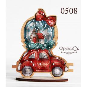 """Набор для вышивки крестом на деревянной основе ФрузелОк """"Авто"""" 0508"""