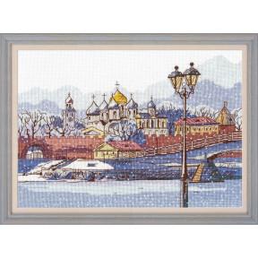 """Набор для вышивки крестом Овен """"Кремлевская набережная"""" 1218"""