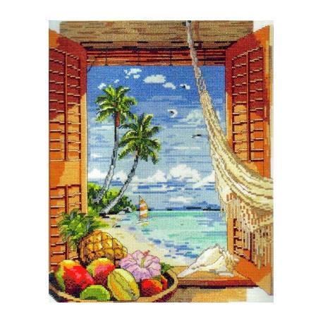 Набор для вышивания Janlynn 023-0382 Tropical Vacation Window