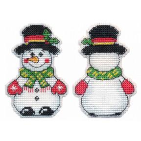 """Набор для вышивки крестом Овен """"Ёлочная игрушка.Снеговик"""" 1248"""