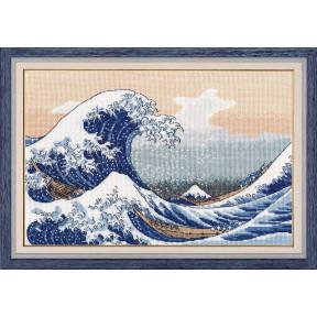 """Набор для вышивки крестом Овен """"Большая волна в Канаваге"""" 1255"""