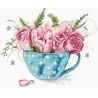 Набор для вышивания LETISTITCH Чашка роз LETI 916