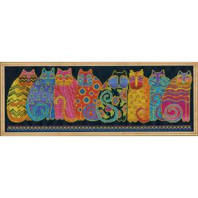 Набор для вышивания Design Works Feline Family Row 3380