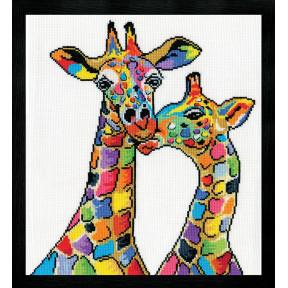 Набор для вышивания Design Works Giraffes 3258