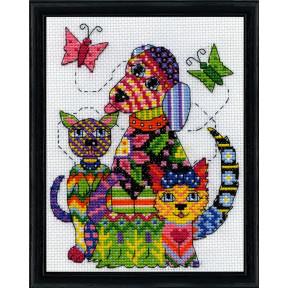 Набор для вышивания Design Works Patchwork Dogs 3367